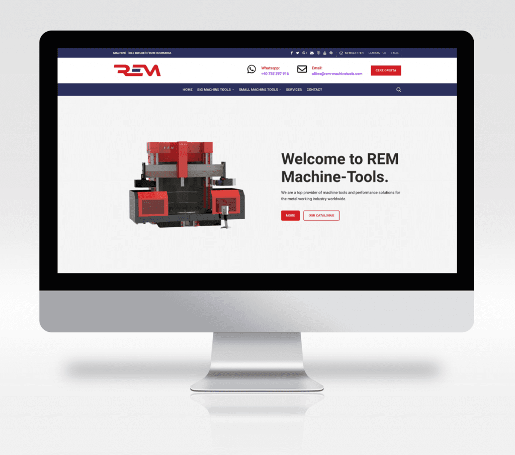 REM Machine-Tools Online MARK Agency Ecommerce Marketing | SEO | Google Ads | Website Development | Agency Overflow